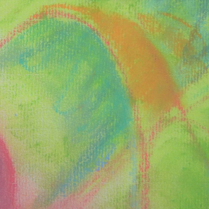'Effervervescence' closeup abstract pastel by Margaret Hyde