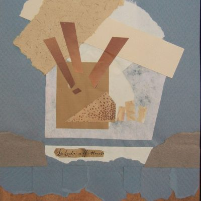 Collage Art by Margaret Hyde - Good Morning - is an abstract image with a playful design in muted colors