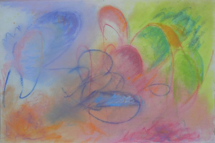 Pastel Art by Margaret Hyde - Effervesence - is an abstract image with flowing energy and vivid colorsabstract pastel by Margaret Hyde